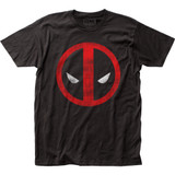 Deadpool Distressed Logo Fitted Jersey Classic T-Shirt
