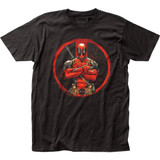 Deadpool Crossed Fitted Jersey Classic T-Shirt