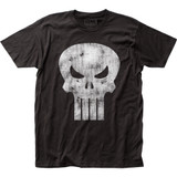 Punisher Distressed Logo Classic Fitted Jersey T-Shirt
