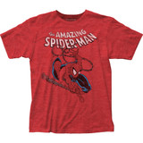 Spider-Man Spidey Swinging Classic Fitted Jersey T-Shirt