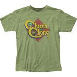 Cheech and Chong Caricature Logo Fitted Jersey T-Shirt