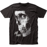 Evil Dead II Dead by Dawn Black and White Poster Fitted Jersey T-Shirt