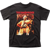 Texas Chainsaw Massacre Leatherface and Grandpa Adult Classic T-Shirt