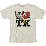 Texas Chainsaw Massacre I heart TX Fitted Jersey Classic T-Shirt