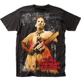 Texas Chainsaw Massacre Full-Color Chainsaw Big Print Subway Classic T-Shirt