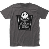 The Nightmare Before Christmas Tombstone Logo Fitted Jersey T-Shirt