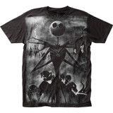 The Nightmare Before Christmas Rainstorm Big Print Subway T-Shirt