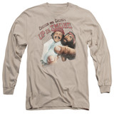 Cheech and Chong Up In Smoke Rolled Up Long Sleeve Adult 18/1 T-Shirt Sand