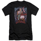 Cheech and Chong Up In Smoke Pantyhose Premium Canvas Adult Slim Fit 30/1 T-Shirt Black