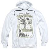 Cheech and Chong Up In Smoke Labrador Adult Pullover Hoodie Sweatshirt White