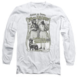 Cheech and Chong Up In Smoke Labrador Long Sleeve Adult 18/1 T-Shirt White