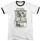Cheech and Chong Up In Smoke Labrador Adult Ringer T-Shirt White/Black