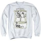 Cheech and Chong Up In Smoke Labrador Adult Crewneck Sweatshirt White