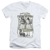 Cheech and Chong Up In Smoke Labrador S/S Adult V-Neck White