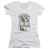 Cheech and Chong Up In Smoke Labrador Junior Women's T-Shirt V-Neck White