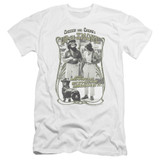 Cheech and Chong Up In Smoke Labrador Premium Canvas Adult Slim Fit 30/1 T-Shirt White