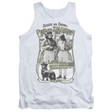Cheech and Chong Up In Smoke Labrador Adult Tank Top White