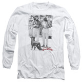 Cheech and Chong Up In Smoke Square Long Sleeve Adult 18/1 T-Shirt White