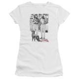 Cheech and Chong Up In Smoke Square S/S Junior Women's T-Shirt Sheer White