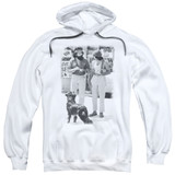Cheech and Chong Up In Smoke Dog Adult Pullover Hoodie Sweatshirt White