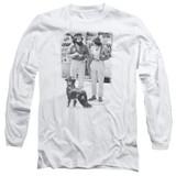 Cheech and Chong Up In Smoke Dog Long Sleeve Adult 18/1 T-Shirt White