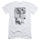 Cheech and Chong Up In Smoke Dog S/S Adult 30/1 T-Shirt White