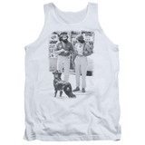 Cheech and Chong Up In Smoke Dog Adult Tank Top White