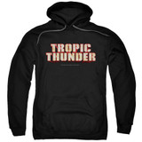 Tropic Thunder Title Adult Pullover Hoodie Sweatshirt Black