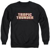 Tropic Thunder Title Adult Crewneck Sweatshirt Black