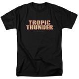 Tropic Thunder Title S/S Adult 18/1 T-Shirt Black