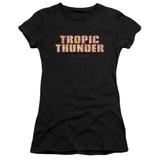 Tropic Thunder Title S/S Junior Women's T-Shirt Sheer Black