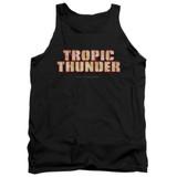 Tropic Thunder Title Adult Tank Top Black