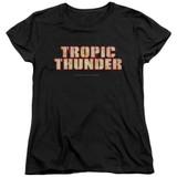 Tropic Thunder Title S/S Women's T-Shirt Black