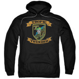 Tropic Thunder Patch Adult Pullover Hoodie Sweatshirt Black