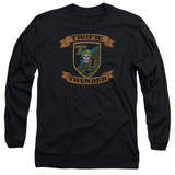 Tropic Thunder Patch Long Sleeve Adult 18/1 T-Shirt Black