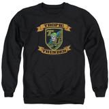 Tropic Thunder Patch Adult Crewneck Sweatshirt Black