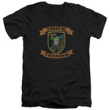Tropic Thunder Patch S/S Adult V-Neck T-Shirt Black