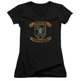 Tropic Thunder Patch Junior Women's T-Shirt V-Neck Black