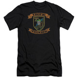 Tropic Thunder Patch Premium Canvas Adult Slim Fit 30/1 T-Shirt Black