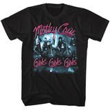 Motley Crue Girls Girls Girls Classic Black Adult T-Shirt
