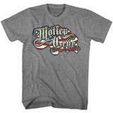 Motley Crue Crue Flag Graphite Heather Adult T-Shirt