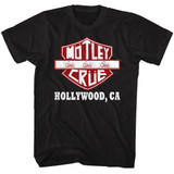 Motley Crue Crue Sign Black Adult T-Shirt