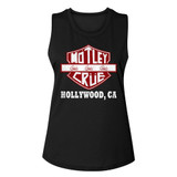 Motley Crue Crue Sign Black Women's Muscle Tank Top T-Shirt
