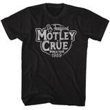 Motley Crue Classic Feelgood Tour Black Adult T-Shirt