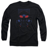 Aquaman Movie Black Manta Long Sleeve Adult T-Shirt Black