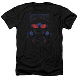 Aquaman Movie Black Manta Adult Heather T-Shirt Black