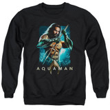 Aquaman Movie Trident Adult Crewneck Sweatshirt Black