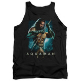 Aquaman Movie Trident Adult Tank Top T-Shirt Black