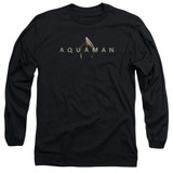 Aquaman Movie Logo Long Sleeve Adult T-Shirt Black