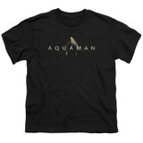 Aquaman Movie Logo Youth T-Shirt Black